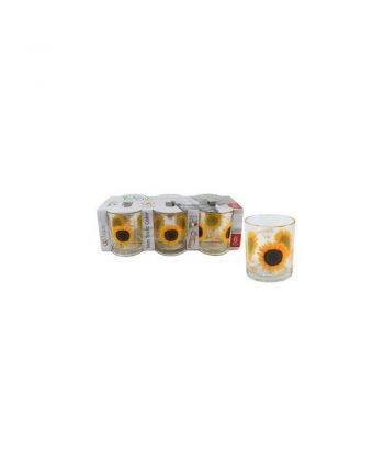 Bicchiere Decorato Girasole
