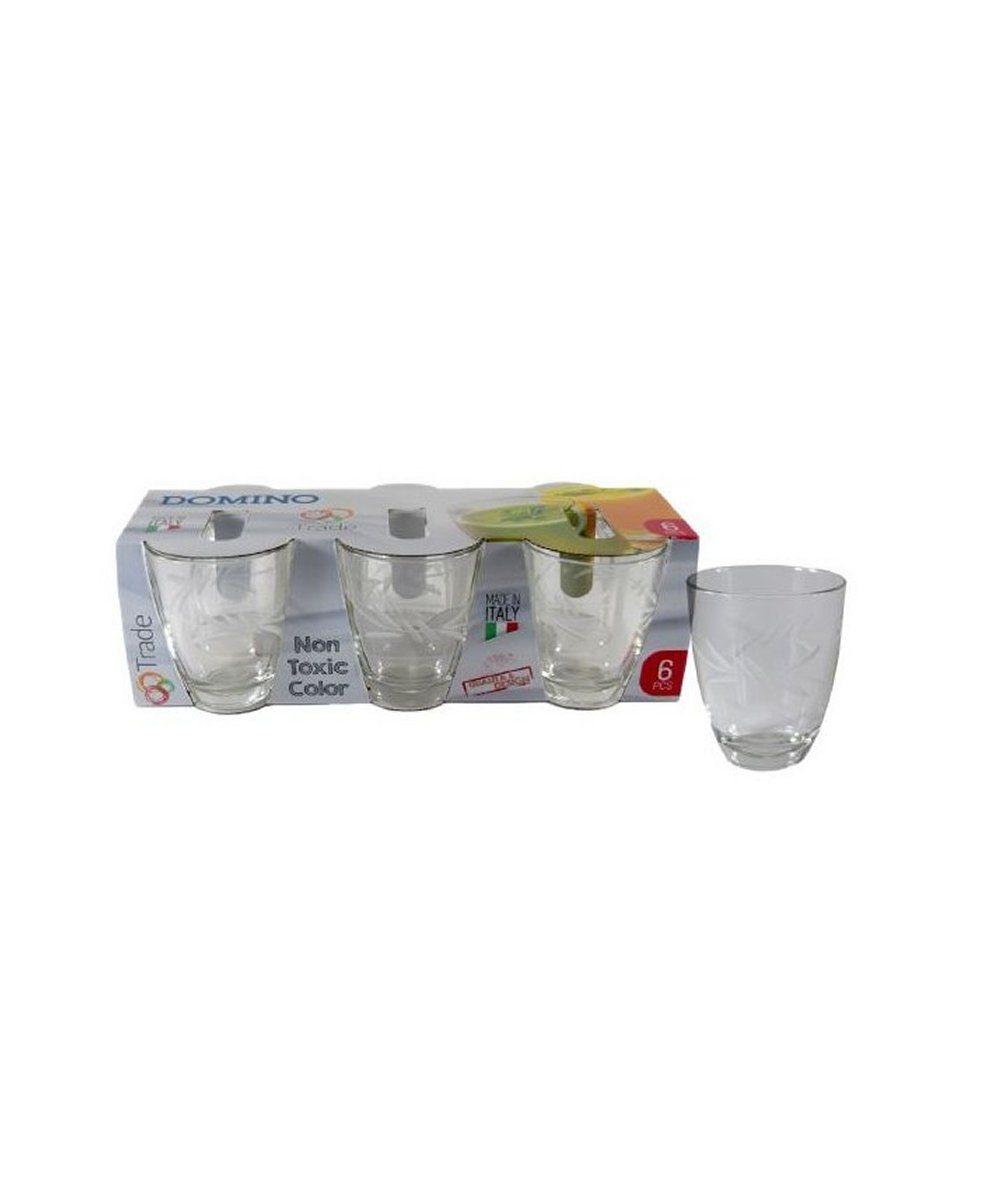 Bicchiere domino decorato